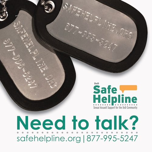 DoD Safe Helpline! Need to talk?.